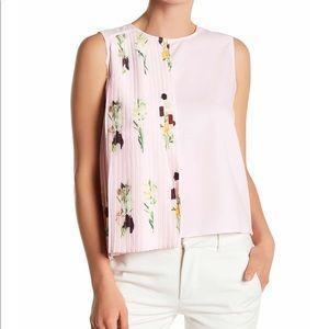 Pleated sleeveless shirt. FINAL PRICE!!!